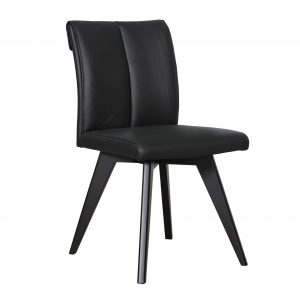 A1.11 Hendrick Chair Black Black 1 300x300 - Hendriks Dining Chair Black - Black Leather