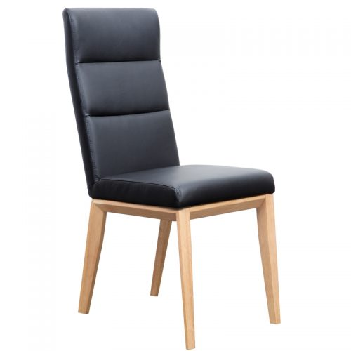 Ibiza Dining Chair Black 1 500x500 - Ibiza Dining Chair Natural Frame - Black PU