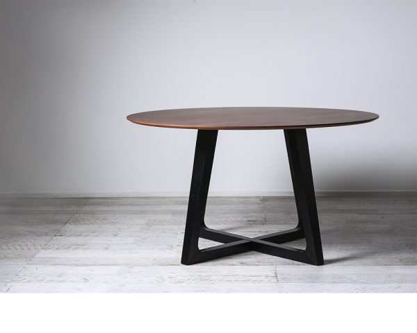 Pascal Round Dining Table 600x480 - Pascal 1370 Round Dining Table - Walnut