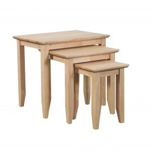 Quadrat Nest of 3 tables Natural 300x300 - Quadrat Nest of 3 tables  Natural
