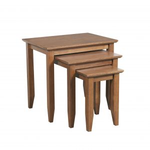 Quadrat Nest of 3 tables Teak 300x300 - Quadrat Nest of 3 tables Teak