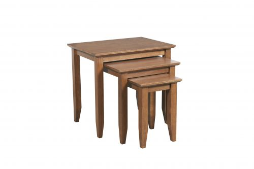 Quadrat Nest of 3 tables Teak 500x333 - Quadrat Nest of 3 tables Teak