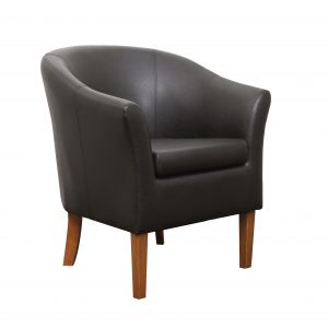 Tub Chair PU Brown 1 300x300 - Tub Chair - PU Brown