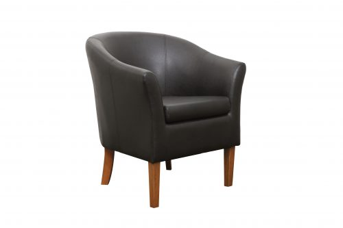 Tub Chair PU Brown 1 500x333 - Tub Chair - PU Brown