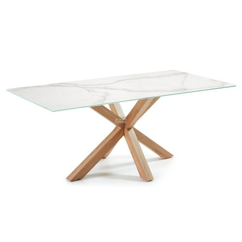 c429k05 3a 500x500 - Arya 2000 Dining Table Ceramic Top - Timber Look Steel Base