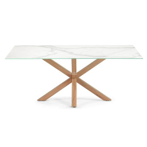 c429k05 3b 500x500 - Arya 2000 Dining Table Ceramic Top - Timber Look Steel Base