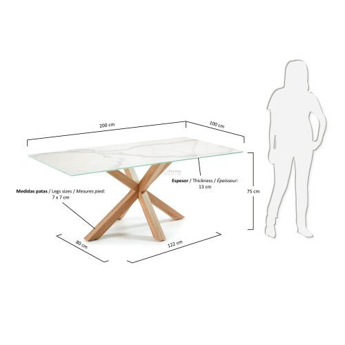 c429k05 3m 500x500 - Arya 2000 Dining Table Ceramic Top - Timber Look Steel Base