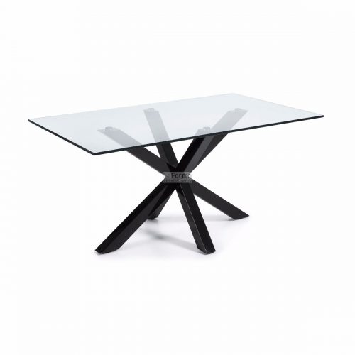 cc0387c07.3a 500x500 - Arya 1500 Dining Table Glass Top - Black Base