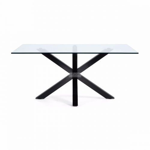 cc0387c07.3b 500x500 - Arya 1500 Dining Table Glass Top - Black Base
