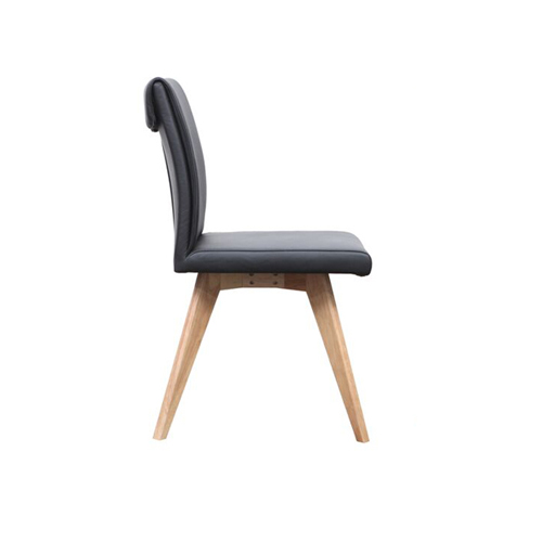 hendrik dining chair black  - Hendriks Dining Chair Natural - Black Leather