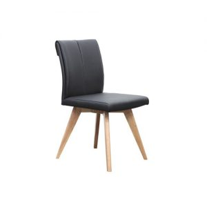 hendrik dining chair black 300x300 - Hendriks Dining Chair Natural - Black Leather