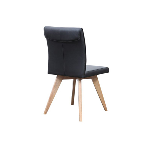 hendrik dining chair black1 - Hendriks Dining Chair Natural - Black Leather