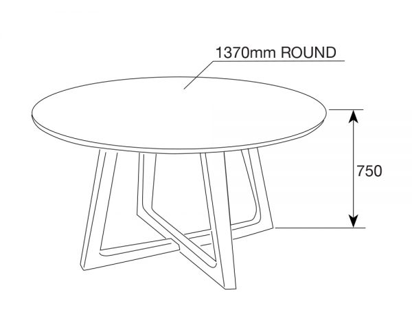 pascalrd3 600x480 - Pascal 1370 Round Dining Table - Walnut