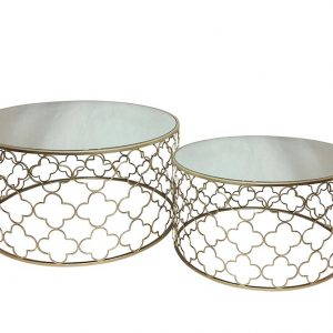 Atlantic Set of 2 300x300 - Atlantic Set Of 2 Coffee Tables - Champagne