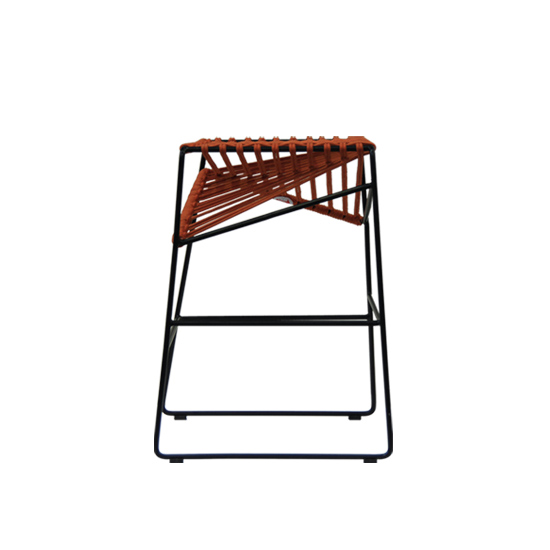 GBS381 Orange Cable stool w - Cable Bar Stool