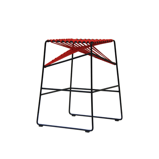GBS381 red Cable stool a w - Cable Bar Stool