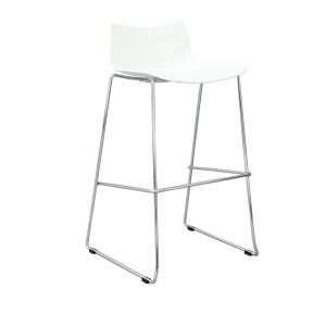 Tw Arrow White 300x300 - Arrow Bar Stool - White