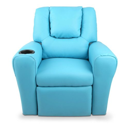 KID RECLINER BU 03 500x500 - Amy Kids Recliner Armchair - Blue