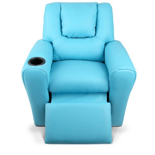 KID RECLINER BU 04 500x500 - Amy Kids Recliner Armchair - Blue
