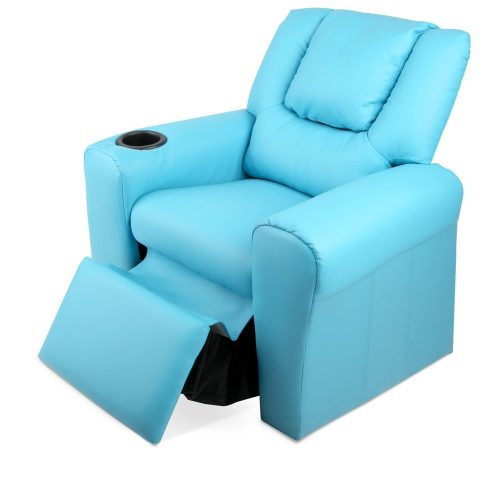 KID RECLINER BU 05 500x500 - Amy Kids Recliner Armchair - Blue