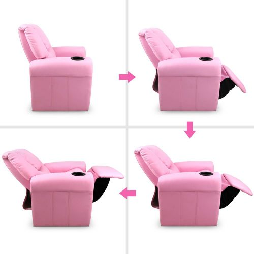 KID RECLINER PK 02 500x500 - Amy Kids Recliner Armchair - Purple
