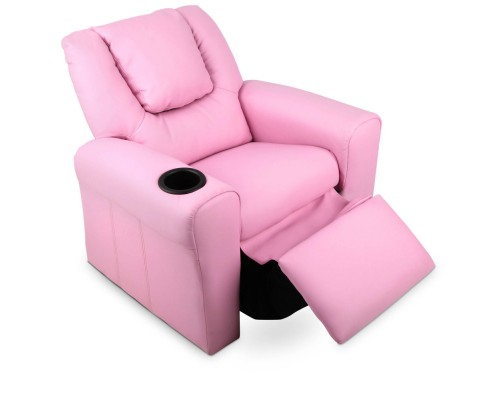 KID RECLINER PK 05 - Amy Kids Recliner Armchair - Pink
