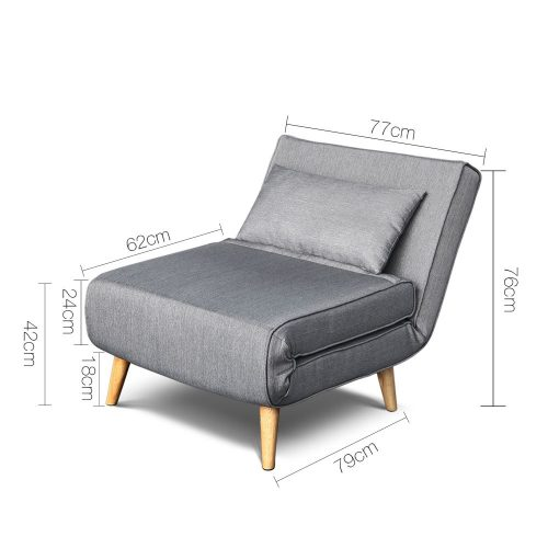 SBED D LIN413 GY 01 500x500 - Uno Sofa bed