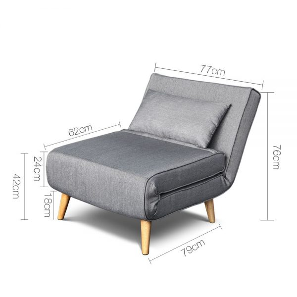 SBED D LIN413 GY 01 600x600 - Uno Sofa bed