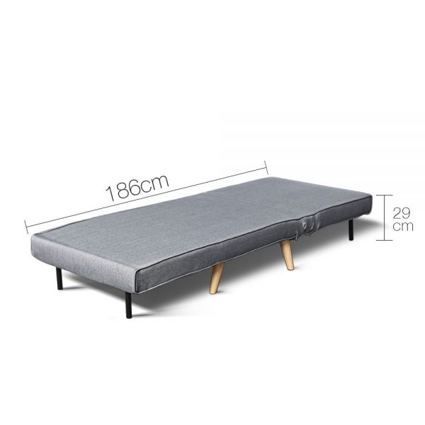 SBED D LIN413 GY 02 600x600 - Uno Sofa bed