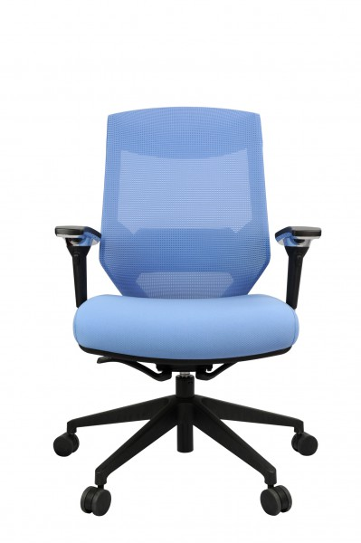 Vogue W04M Blue 1 399x600 - Vogue Mid Back Office Chairs