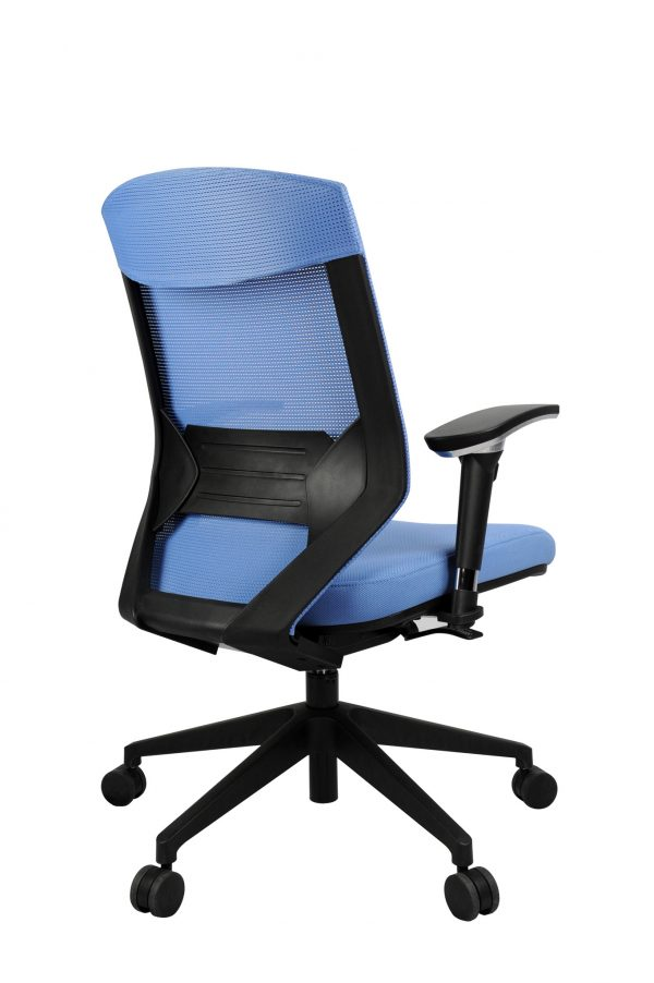 Vogue W04M Blue 2 600x902 - Vogue Mid Back Office Chairs