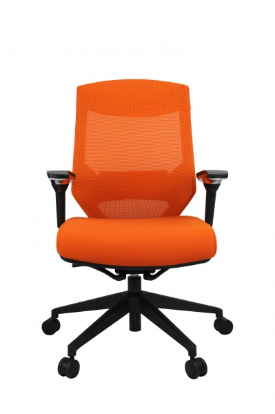 Vogue W04M Orange 1 399x600 - Vogue Mid Back Office Chairs
