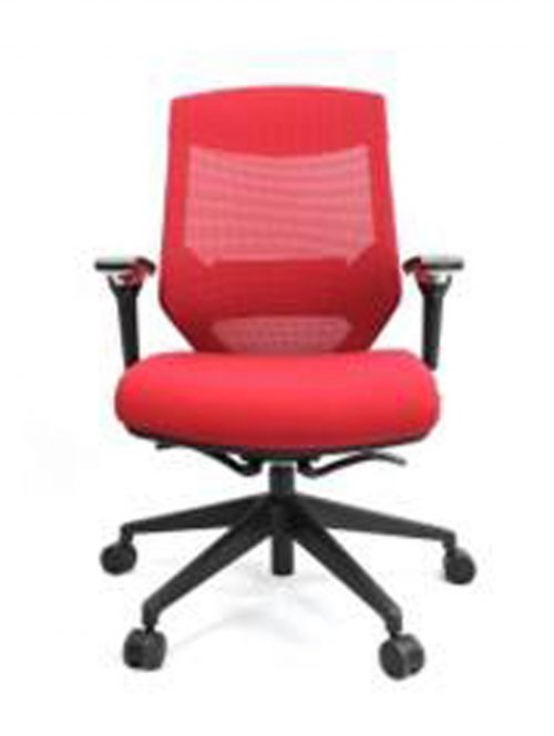 Vogue W04M Red 1 500x665 - Vogue Mid Back Office Chairs