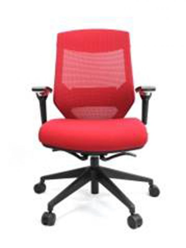 Vogue W04M Red 1 600x798 - Vogue Mid Back Office Chairs