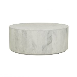 cto ell blo mtwh 1 300x300 - Elle Round Block Coffee Table - White Marble