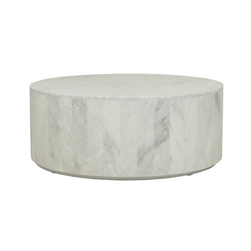 cto ell blo mtwh 1 500x500 - Elle Round Block Coffee Table - White Marble