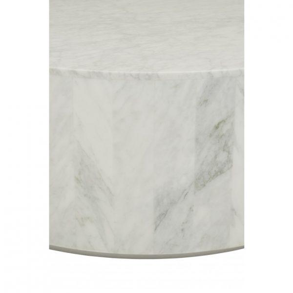 cto ell blo mtwh 2 600x600 - Elle Round Block Coffee Table - White Marble