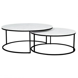 cto ell nest bkmtwh 1 1 300x300 - Elle Round Marble Nest Coffee Tables