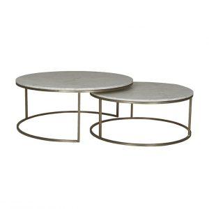 cto ell nest bsglmtwh 1 300x300 - Elle Round Marble Nest Coffee Tables
