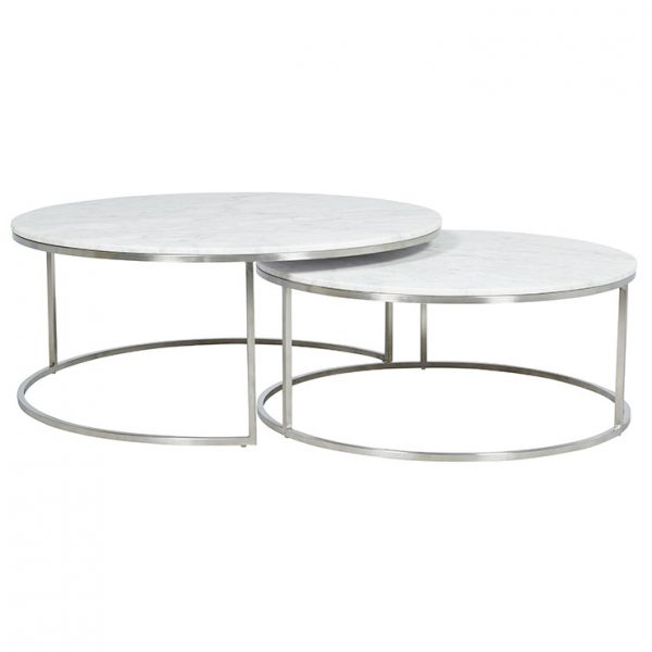 cto ell nest ssmtwh 1 1 1 600x600 - Elle Round Marble Nest Coffee Tables