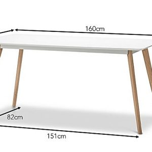 eastern warehouse 988051 429095 300x300 - Line 1600 Dining Table - White