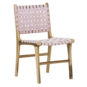 lazie 277332 446879 300x300 - Lazie Leather Dining Chair (Set of 2) Pink