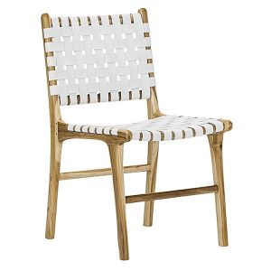 lazie 377332 447129 300x300 - Lazie Leather Dining Chair (Set of 2) White