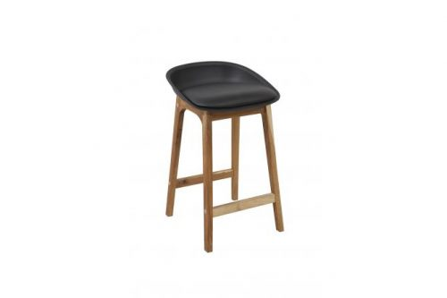Loire Black Front 500x333 - Loire Bar Stool - Black