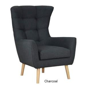 STOCKHOLM ARM CHAIR 78X83X106CM CHARCOAL VSO 001 CHAR - Stockholm Arm Chair - Charcoal
