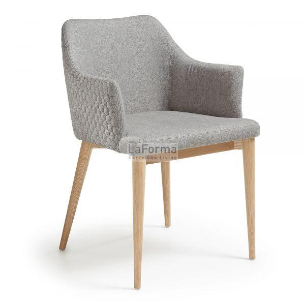 cc0077jq03 3a 600x600 - Danai Quilted Armchair - Light Grey