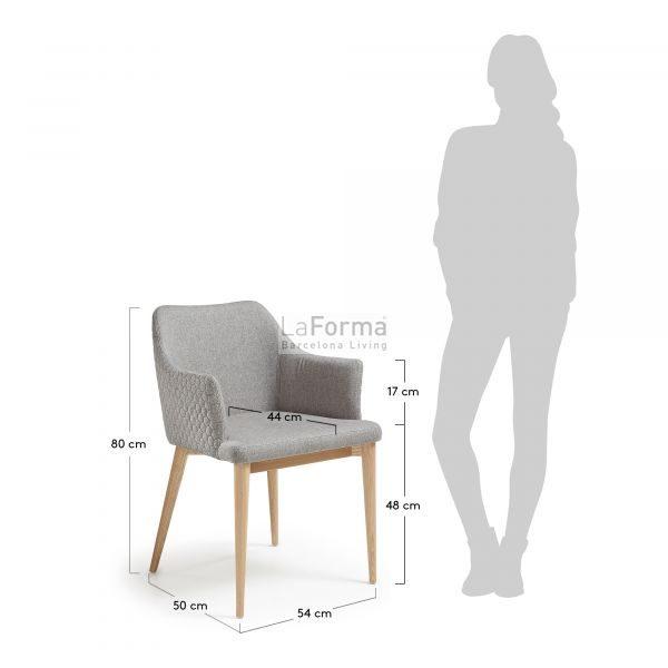 cc0077jq03 3m 600x600 - Danai Quilted Armchair - Light Grey