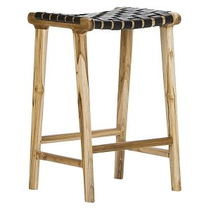 laz 300x300 - Lazie Leather Bar Stool - Black