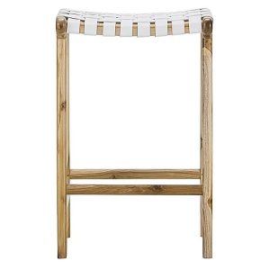 laz14 300x300 - Lazie Leather Bar Stool - White