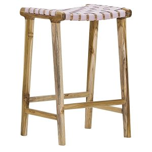laz6 300x300 - Lazie Leather Bar Stool - Blush Pink